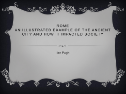 Rome An Illustrated Example of the Ancient city