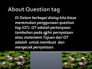About Question tag