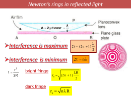 Newton`s rings formed by two curved surfaces