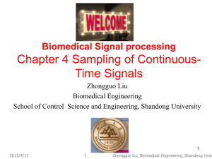 Chapter 4: Sampling of Continuous