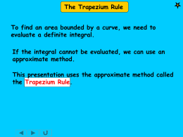 51 the trapezium rule
