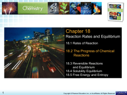 18.2 The Progress of Chemical Reactions