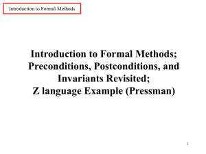 of formal methods