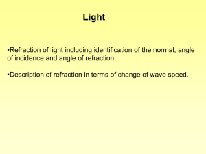 Refraction ppt - Kelso High School