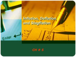 Inflation, Deflation and Stagflation