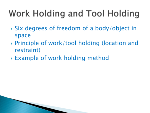 Work Holding principles