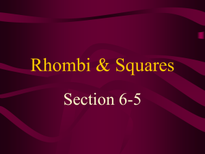 6-5 Rhombi and Squares - Crestwood Local Schools