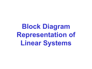 Block Diagram Representation of Linear Systems