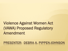 VAWA Proposed Amendment Powerpoint