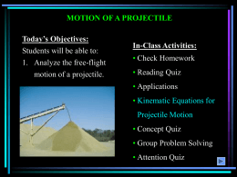 Motion of projectiles