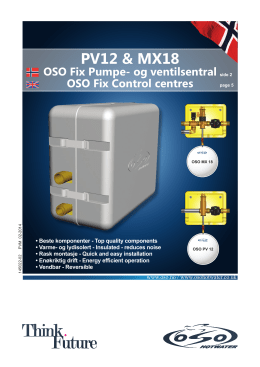 PV12 & MX18 - OSO Hotwater