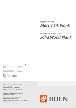 Massiv Eik Plank Solid Wood Plank