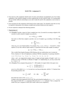 ELEC3730 - Assignment # 1 - Signal Processing Microelectronics