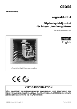 cegard/Lift LI Svenska English
