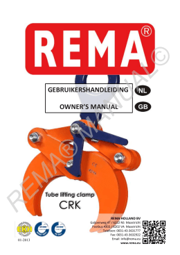 Manual CRK tube clamp NL-GB pfd