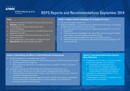 BEPS Reports and Recommendations September 2014
