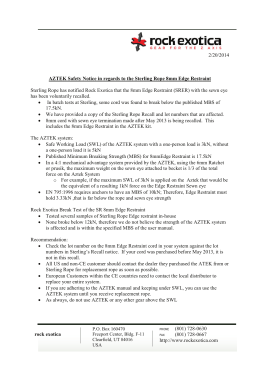 2/20/2014 AZTEK Safety Notice in regards to the Sterling