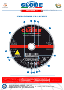 READING THE LABEL OF A GLOBE WHEEL