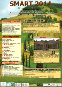 Invited Speakers Scope and Topics