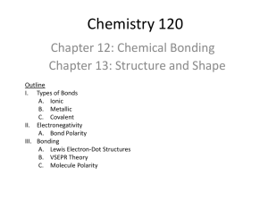 Chemical Bonding/Structure and Shape