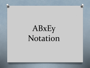 ABxEy Notation
