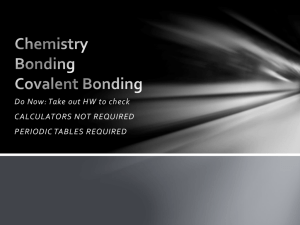 Chemistry Bonding Lewis Dot Diagrams & Bond Polarity