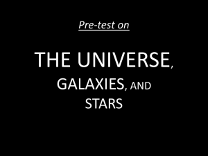 Pre-test on THE UNIVERSE, GALAXIES, AND STARS