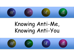 Knowing Anti-Me, Knowing Anti-You - Education