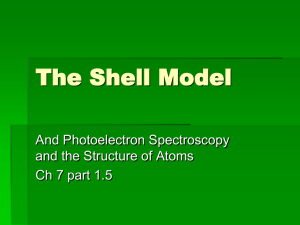 The Shell Model and PES