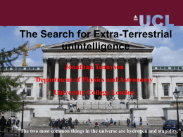 The Search for Extra-Terrestrial Unintelligence