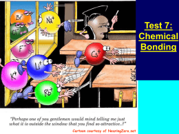 Chemical Bonds - Camden Central School