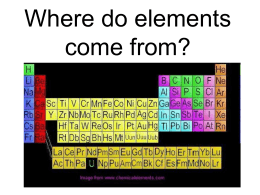 Where do elements come from?