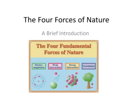 The Four Forces of Nature Powerpoint