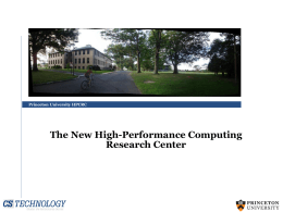 Princeton University Data Center Program Review