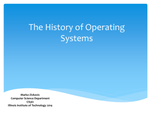 The History of Operating System - Computer Science