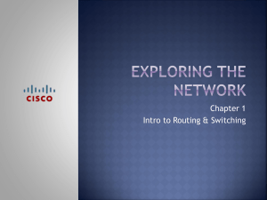 Chapter 1 Exploring the Network