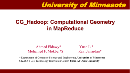 CG_Hadoop: Computational Geometry in