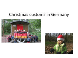 Christmas costums from Germany