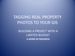 McClintock - Tagging Real Property Photos to Your GIS