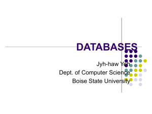 DATABASES - Computer Science
