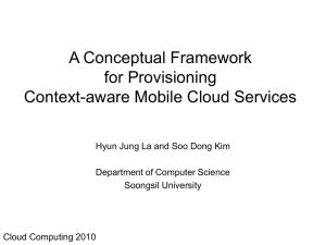 A Conceptual Framework for Provisioning Context