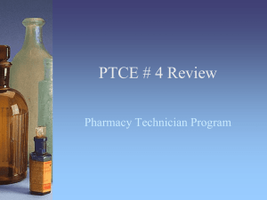 PTCE # 4 Review