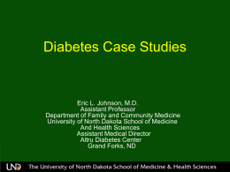 Diabetes Case Studies - School of Medicine & Health Sciences
