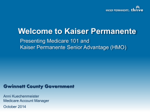 Kaiser Senior Advantage Medicare Presentation
