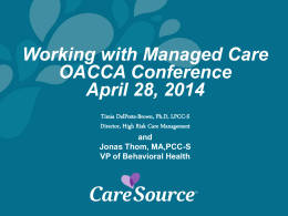 Who is CareSource? - Ohio Association of Child Caring Agencies