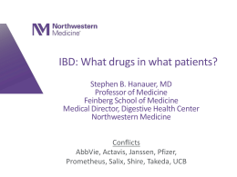 IBD: What drugs in what patients?