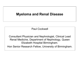 Paul Cockwell - UK Myeloma Forum