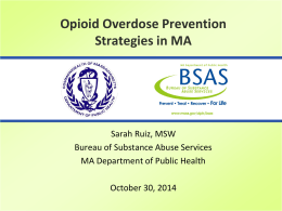 Department of Public Health Bureau of Substance Abuse Services