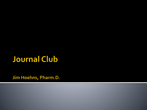 Journal Club Jim Hoehns, Pharm.D. What Adverse Effects Are
