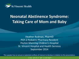 Neonatal Abstinence Syndrome - Indiana Pharmacists Alliance